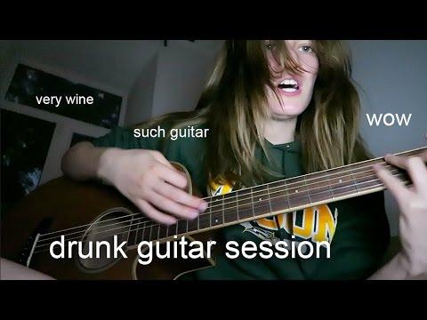 drunk guitar session (ракурс специально для фанатов моих ноздрей)