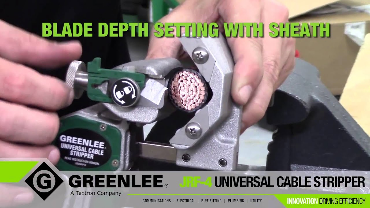 Greenlee Universal Cable Stripping Tool - YouTube