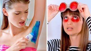 15 Divertidas Pegadinhas De Beleza DIY! Guerras De Brincadeiras!
