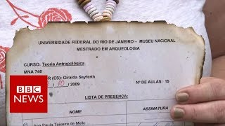 Museum artefacts saved from Brazil fire - BBC News