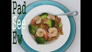 Authentic Pad See Ew Recipe - Rice Noodles With Broccoli And Shrimp -- The Fugal Chef