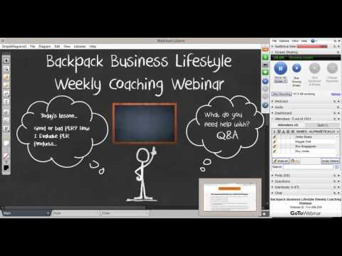 Evaluating The Quality Of A PLR Product - Backpack Business Lifestyle Weekly Webinar