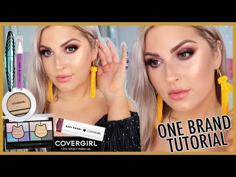 One Brand Tutorial 😍 Full Face Of COVERGIRL! 👀 + MEET KATY PERRY!