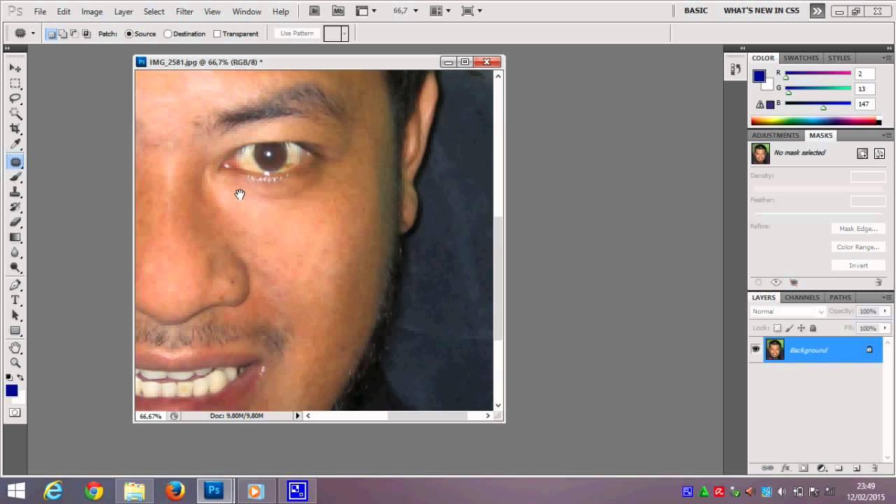 Photoshop cara edit foto - menghilangkan kumis dan jerawat ...