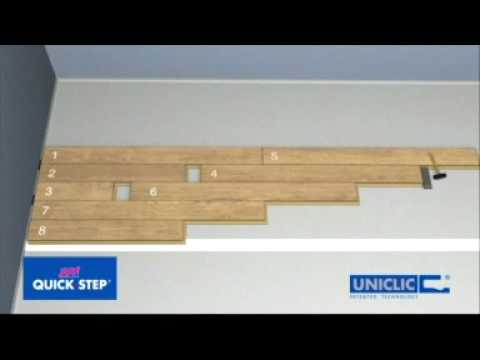 Installation general uniclic for Pose seuil de porte parquet flottant