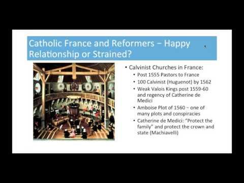 French Wars of Religion Lecture # 1