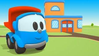 Leo der Lastwagen Zeichentrickfilm. Leo und Skoop bauen eine Garage.