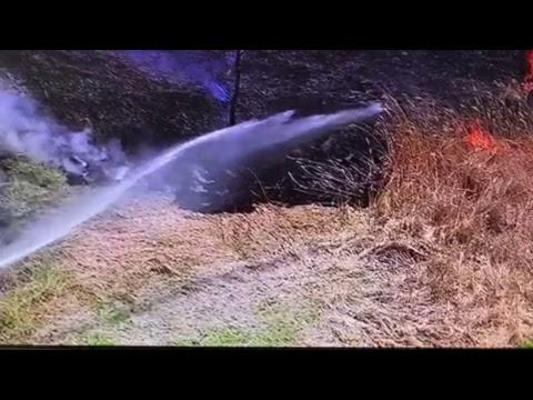 WATCH LIVE: Alsip brush fire