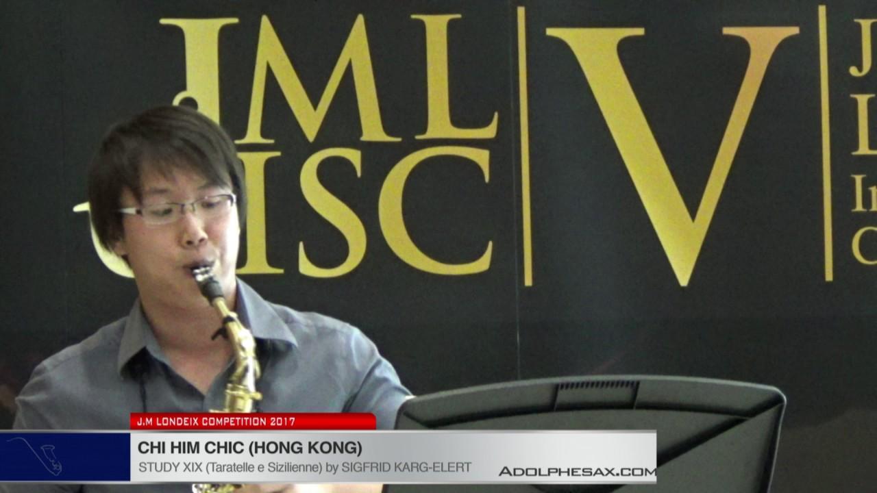 Londeix 2017 - Chi Him Chik (Hong Kong) - XIX Tarantelle e Sizilienne by Sigfrid Karg Elert