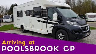 Arriving at Poolsbrook Country Park Caravan and Motorhome Club Site