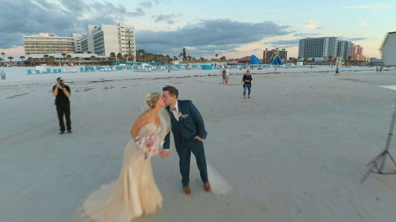 Wedding By Drone Hilton Clearwater Beach
