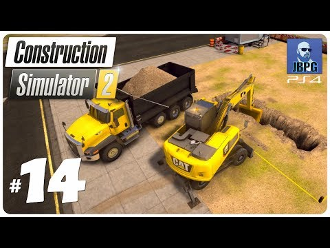 Construction Simulator 2 PS4 - Episode 14: New Excavator Is Great!
