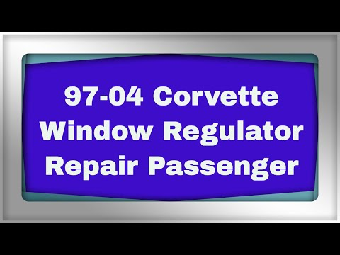 Install Corvette Window Regulator