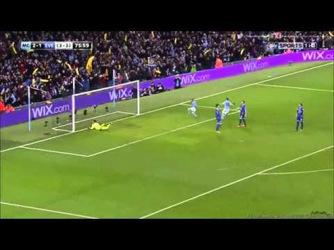 Sergio Agüero Winner against Everton in the Carling Cup
