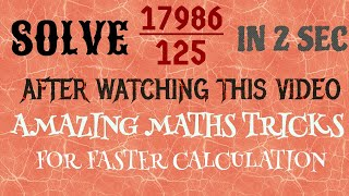 SIMPLE AND EASY MATHS TRICKS   THE LIGHT OF KNOWLEDGE