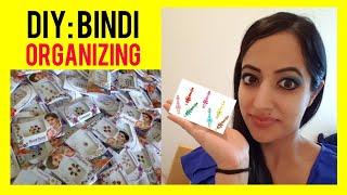 Bindi Organizing DIY: Quick and Easy! (No Album) How to organize bindis   Bindi organizer