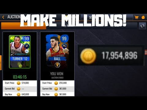 HOW TO MAKE MILLIONS OF COINS IN NBA LIVE MOBILE 20!!!