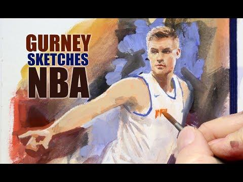James Gurney Sketches the NBA