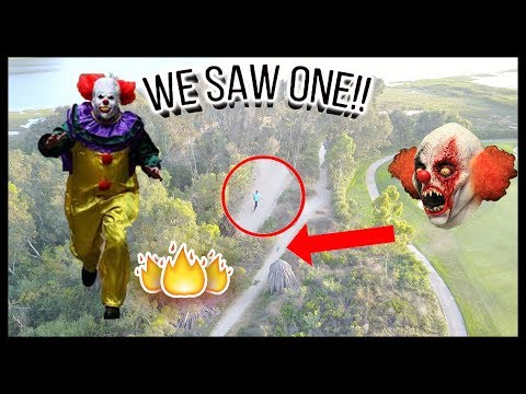 HUNTING KILLER CLOWNS W/ DRONE!! **WE FOUND ONE**!! (SCARY)