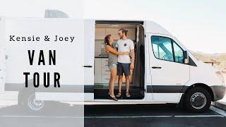 VAN TOUR | 19 year old couple transforms van to travel the world
