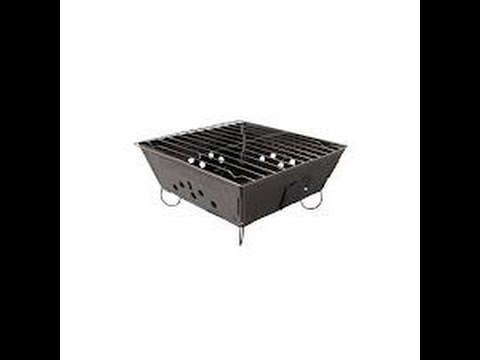 Great Portable Folding Charcoal Grill For Low Cost Emergency Prepping And Cooking