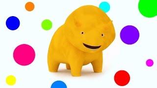 和戴诺学习形状、 颜色、数字和水果 👶 幼儿教育卡通
