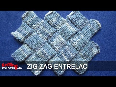 Zig Zag Entrelac Knitting