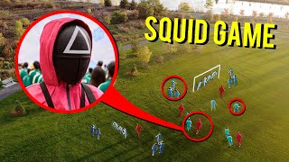DRONE CATCHES SQUID GAME AT HAUNTED PARK!! (THEY PLAYED A GAME!!)
