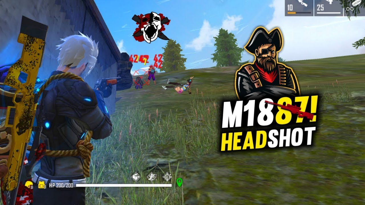 Free Fire AWM + M1887 Best Combo Game with Amitbhai and Wizardo - Garena Free Fire