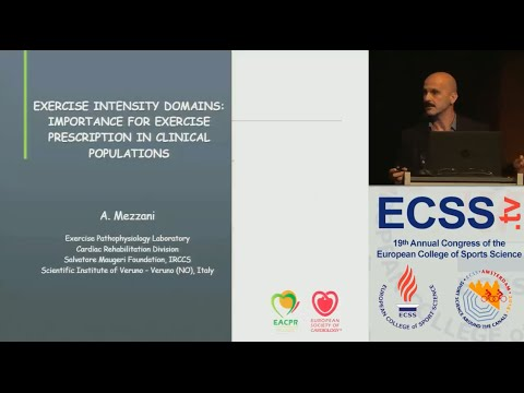 Exercise Intensity Domains: Importance for Exercise Prescription in Clinical... - Dr. Mezzani