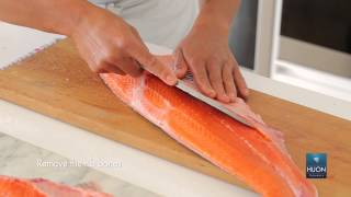 How to fillet Huon salmon