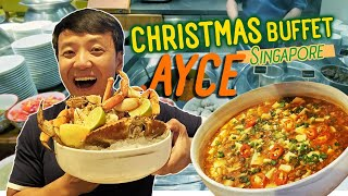 Singapore CHRISTMAS All You Can Eat BUFFET & EVA Airline BEST Meals!