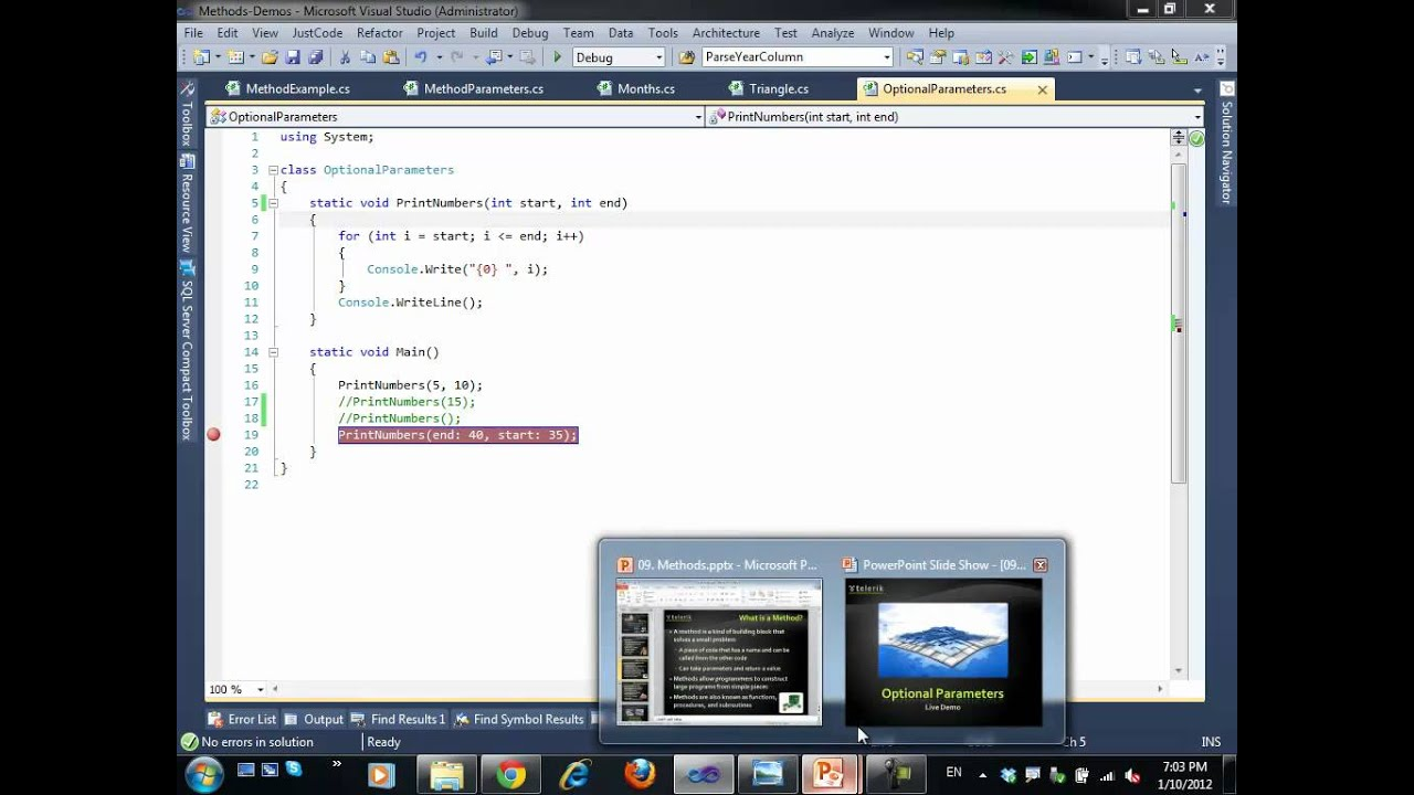 Introduction to Programming with C# / Java Books » Chapter 9