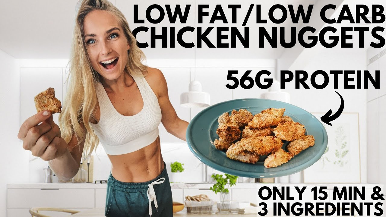 Anabolic Chicken Nuggets (ONLY 3-ingredients & 15 min) High protein, low carb & low fat.