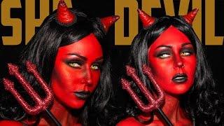 Heaven & Hell She Devil Makeup Tutorial Jordan Hanz / Kristen Leanne | KristenLeanneStyle