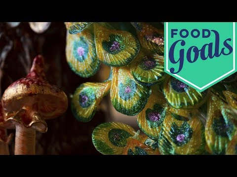 Sugar-Pulled Peacock Feathers | Food Network