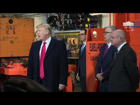 President Trump Takes a Tour of H&K Equipment Company