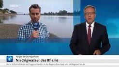 Live-Schalte via LiveU-App in die Tagesschau24 von der Parkinsel Ludwigshafen