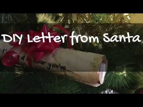 How To Make Your Own DIY Letter From Santa | Vlogmas