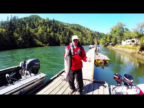Siletz river chinook salmon fishing youtube for Siletz river fishing report