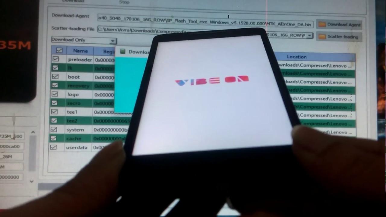 Cara Flash Lenovo Vibe P1Ma40 via Flashtool | khasbi com™