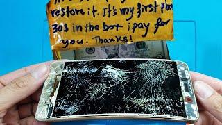 Restoration destroyed phone   Restore Huawei Y7 Prime   Rebuild Broken Phone