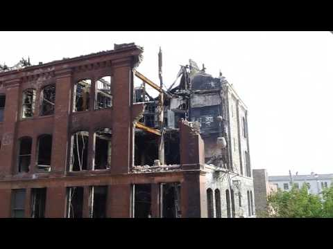 Hanley Furniture Co - Demolition (July 3, 2017) Downtown Rockford, IL - USA