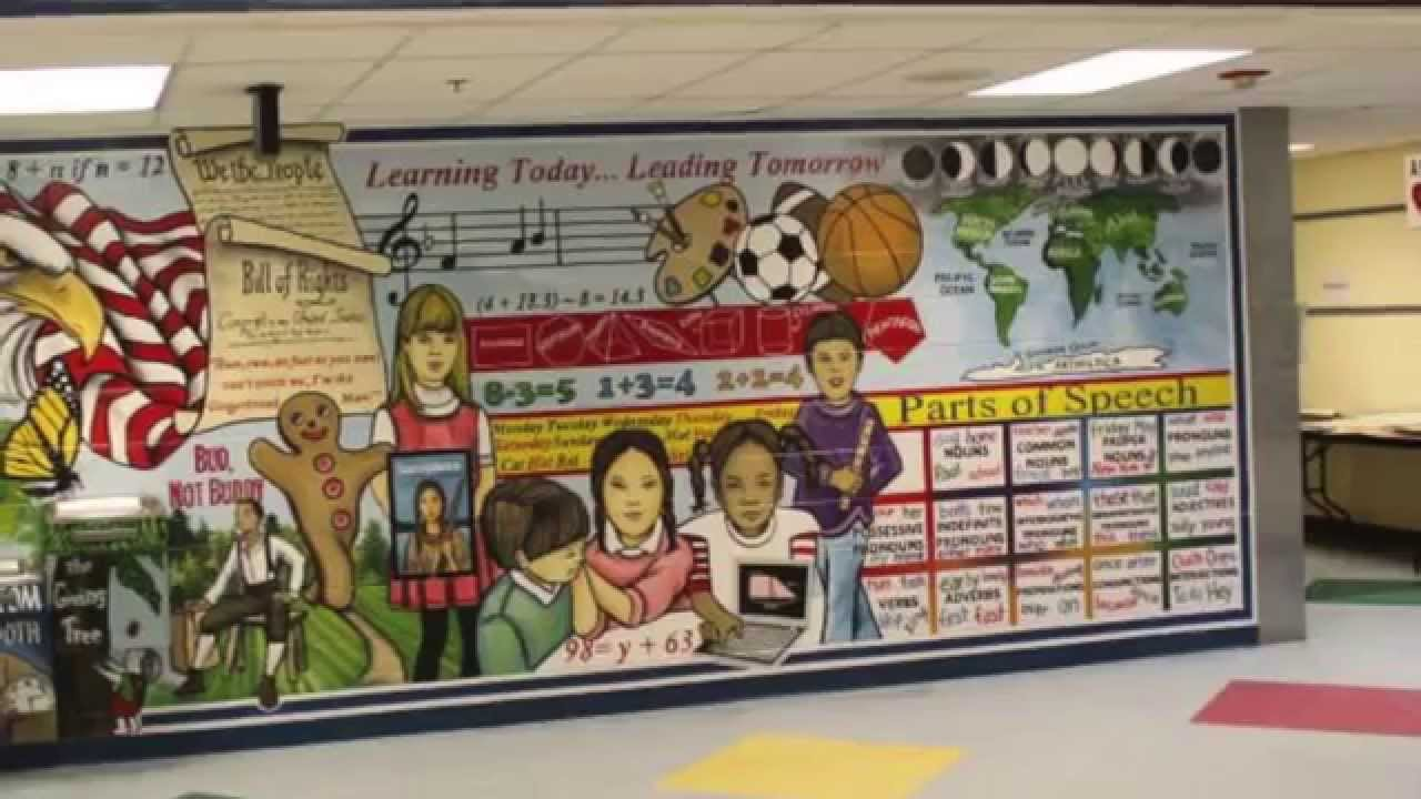 Nice Mural Mural On The Wall: Floris Elementary School (Testimonial) Part 21