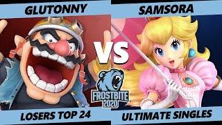 Frostbite 2020 SSBU Losers Top 24 - Solary | Glutonny (Wario) Vs. eUnited | Samsora (Peach) Singles