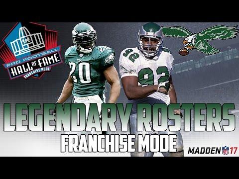 Legendary Philadelphia Eagles Roster | Madden 17 Connected Franchise | Dawkins + Reggie White