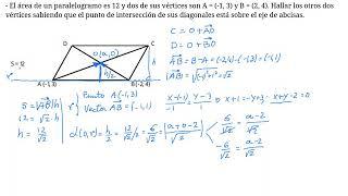 Vértices de un paralelogramo