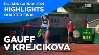 Coco Gauff v Barbora Krejcikova Highlights   Quarter Final   Roland Garros 2021