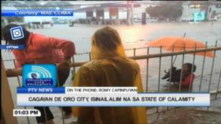 Cagayan De Oro City, isinailalim na sa state of calamity