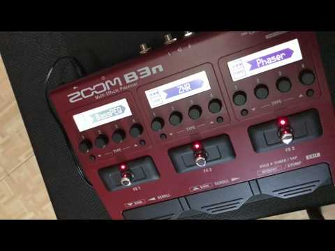 zoom b3n guide to patch effect toggle using footswitch